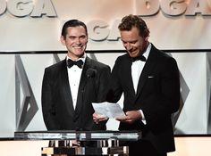 Michael Fassbender & Billy Crudup presenting the DGA to Ridley Scott