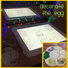 Decorate the egg on the light panel