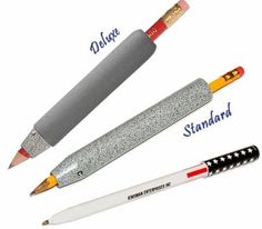 Kinsman Weighted Universal Deluxe Holder ADULT / Large: The Deluxe Universal Holder provides a means to hold a wide variety of writing or marking devices. It assists in stabilizing the hand for people with Parkinsons' disease or ataxia. Tremors Hand, Essential Tremors, Sensory Rooms, Sensory Activities, Hand Therapy, Speech Therapy, Vision Therapy, Adaptive Equipment, Pens And Pencils