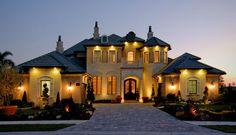 exterior design colors and christopher burton luxury homes mediterranean-exterior-melbourne Unique House Plans, Dream House Plans, My Dream Home, Ideal House, Dream Big, Luxury Homes Dream Houses, Dream Homes, Dream Mansion, Huge Houses