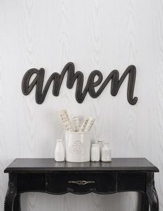 Word Signs Home Decor Interesting Diecut And Sculpted Wooden Word Sign With Distressed Black Paint 2018