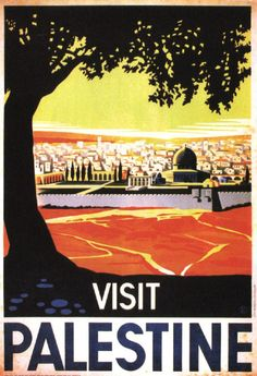 A postcard of our digital art print recreation of a vintage travel poster for Palestine. This poster was originally designed by Franz Kraus in 1936 and published by the Tourist Association of Palestin