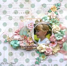 ADORABLE or what? This sweet layout by Bec Genet shows off the Heaven Sent collection beautifully. From the engaging photo to her stunning paper-cutting skills to the amazing floral garden, the whole design is perfect in our eyes and deserving of a BAP challenge win!