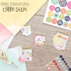 Planner clips from creative team member Kelly Alexandra