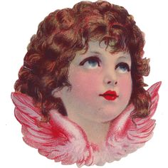 Sentimentalia - Victorian Stickers ~ Glansbilleder > Angels ~ Engle ❤ liked on Polyvore featuring fillers, angel, backgrounds, illustration and victorian
