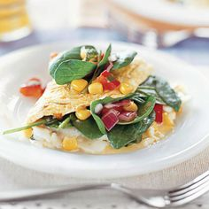 Omelets are great any time of day - especially a low-calorie version, like this one! More low-calorie dinner recipes: http://www.bhg.com/recipes/healthy/dinner/low-calorie-dinner-recipes/?socsrc=bhgpin061613omelet=13