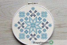 modern cross stitch pattern geometric ornament traditional