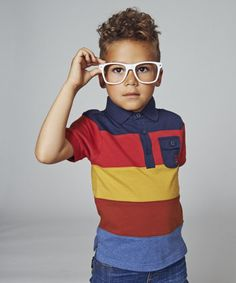 Baby K Colour Block Stripe Polo. Exclusive to Mothercare, this Baby K polo top features bold colour block stripes.