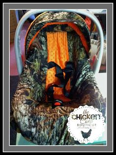 Universal Carseat Cover , Camo with your choice of color Minky Fabric center. A must have for all Moms and Dads on Etsy, $60.00