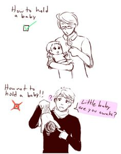 How to Hold Your Baby, sponsored by America and Russia.... Hehehehehe :D