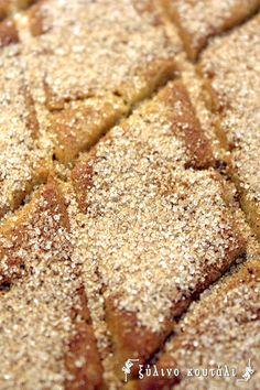 Ραβανί Νηστίσιμο Greek Cookies, Greek Recipes, Apple Pie, Banana Bread, Tasty, Baking, Desserts, Food, Cakes