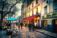 Montmartre  - Places to See in Paris, France. Kind of looks like part of Pittsburgh. Hah.