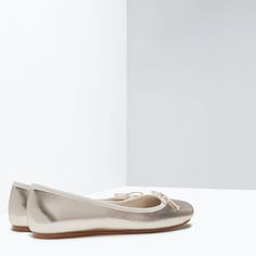 ZARA - SHOES & BAGS - BALLERINAS LAMINIERT