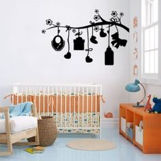 Hanging Toys on Tree Wall Decal  To see that lovely smile on your baby's face; decorate your Kid's bedroom wall with hanging toys wall design. Your kid will grow with this toy wall art and feel happy all the time. Order this high-class wall art to dress-up your baby room.  SMALL :-- 24 X 15 -- IN INCHES MEDIUM :-- 38 X 24 -- IN INCHES LARGE :-- 48 X 30 -- IN INCHES