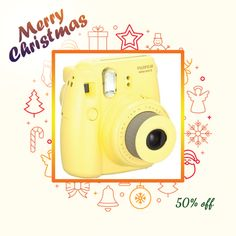 Fujifilm Instax Mini 8 Instant Camera (yellow) (pack of 1 Ea)   #impactsensor #oopsprotection #carcam