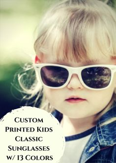 211e7274d7 Custom Printed Kids Classic Sunglasses w  14 Colors