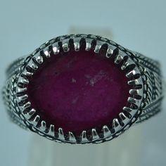 Sterlingsilber, Natural Ruby, Rings For Men, Silver Rings, Gemstones, Vintage, Design, Etsy, Jewelry