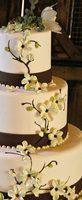 Wedding, Reception, Cake, White, Green, Brown, Estera events
