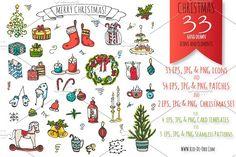 Merry Christmas icons & stickers! by Rio-de-Oro.com on @creativemarket