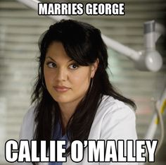 Callie O'Malley. Oh gosh...that episode was too funny.
