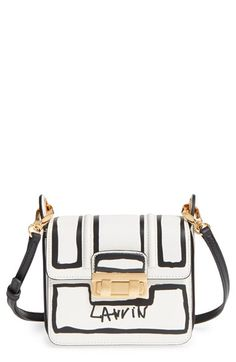 Lanvin 'Mini Jiji - Outline' Leather Crossbody Bag available at #Nordstrom