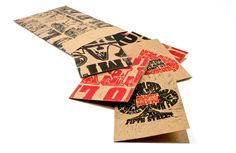 Block Printed Poker Cards by KC Rudolph, via Behance