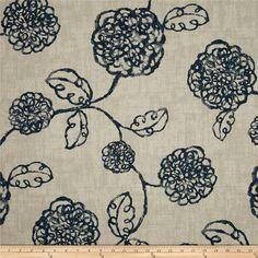 Pair (2 panels) high end designer grommet top curtain panels drapes, Adele navy