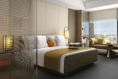 Tour The Westin Tashee Resort, Taoyuan with our photo gallery. Our Taoyuan hotel photos will show you accommodations, public spaces & more. Hotel Bedroom Design, Master Bedroom Interior, Living Room Interior, Bedroom Decor, Hotel Interiors, Bed Furniture, Apartment Design, Interior Design, Home Decor