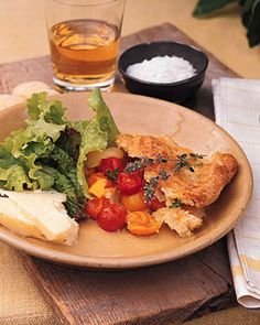 Mixed Tomato Cobbler with Gruyere Crust