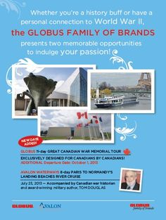 #Globus #war #Normandy #river #cruise #war #tour #remembrance #travel #France Of Brand, Normandy, World War, Cruise, How To Memorize Things, Tours, Events, France, Memories