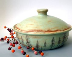 Hey, I found this really awesome Etsy listing at https://www.etsy.com/listing/167715358/stoneware-casserole-ponderosa-pines-hand