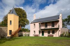 Book your stay at Belmont, a Grade II* listed maritime villa that was once home to world-famous author John Fowles. Lyme Regis, Exterior Colors, United Kingdom, John Fowles, Villa, Mansions, House Styles, Holiday, Home Decor