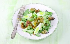 Pekoni-juusto-perunasalaatti Potato Salad, Potatoes, Ethnic Recipes, Food, Potato, Meals