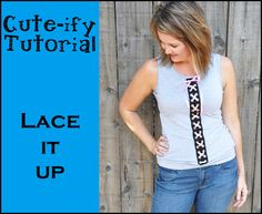 Cute-ify your T ~ Lace it up