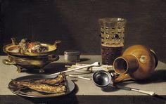 Pieter Claesz  (c.1597-1661) — Still Life,  1627  : Timken Museum of Art,  San Diego,   California.  USA   (2000×1255)