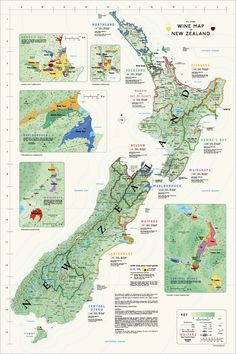 Wine Map of New Zealand #Wine #Wineeducation