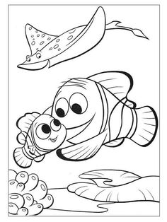 Coloring Pages Merlin Is Finding Nemo (Cartoons > Finding Nemo Finding Nemo Coloring Pages, Disney Coloring Pages, Free Printable Coloring Pages, Coloring Book Pages, Winnie The Pooh Drawing, Scooby Snacks, Disney Printables, Coloring Sheets For Kids, Disney Colors
