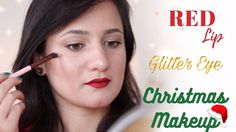 Classic Red Lip Glitter Eye Christmas Makeup Tutorial | Makeupmagique 2017