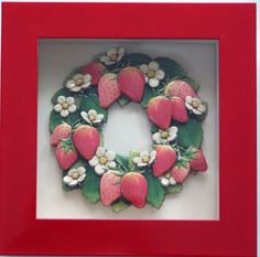 Strawberry Wreath made by Kazumi Iitaka