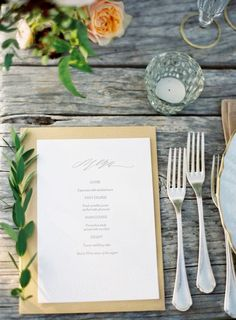 Simple place settings via Once Wed