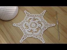 Вязание крючком снежинки How to crochet snowflake - Crochet motifs for beginners - YouTube