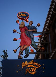 """I found my thrill""- engagement photo ideas. Blueberry Hill :: ( University City ) on the amazing delmar loop."