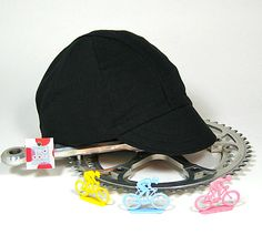 Cappello da Ciclismo Nero Cycling Cap by reddotscycling on Etsy, $27.00
