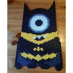 Minion Batman perler beads by  nastiwolf