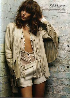#ralphlauren #beige #fringe #neutal #suede #jacket #70s style #coachella #style #festival #lookbook #summer #fashion #trends