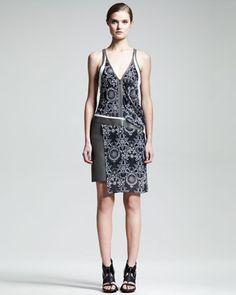 Medallion-Print Rubber Dress by Helmut Lang at Bergdorf Goodman.