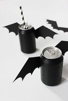 Batman-Birthday-Party-Ideas-for-kids-Batman-DIY-Soda-Cans