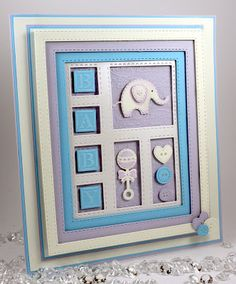 John Next Door: Search results for shadow box Baby Boy Cards, New Baby Cards, Baby Shower Cards, Spellbinders Cards, Baby Album, Marianne Design, Baby Kind, Baby Crafts, Cool Cards