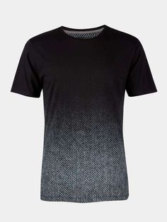 Black Herringbone T-Shirt - Mens T-Shirts & Vests - Clothing - Burton