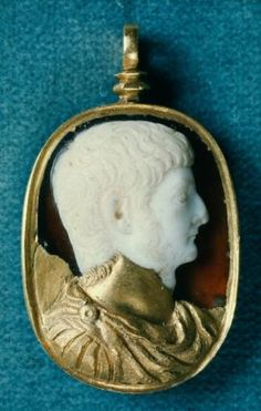 Cameo with portrait bust of Germanicus  Roman, Imperial Period, early 1st century